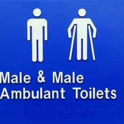 male and male ambulant