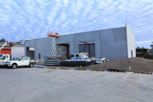Construction is moving forward. ABP's new shed is coming along on Carole Park office.